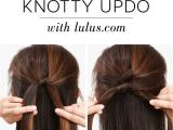 Easy Hairstyles to Do the Night before Lulus How to Knotty Updo Hair Tutorial Frisuren
