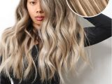 """Easy Hairstyles to Do with Clip In Extensions Balayage 160g 20"""" Ombre ash Brown ash Blonde Hair Extensions"""