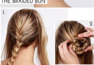 Easy Hairstyles Using Plaits Hairstyle Bun Nurses