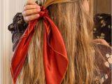 Easy Hairstyles with 1 Hair Tie Scarf Scrunchies In 2019 Boho Hair