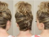 Easy Hairstyles with Braids Youtube Upside Down Braid to Bun
