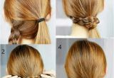 Easy Hairstyles with One Hair Tie Pigtails One Braided One Ponytail Wrap Brace Around Ponytail