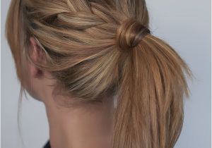 Easy Hairstyles with Ponytails Easy Braided Ponytail Hairstyle How to Hair Romance