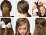 Easy Hairstyles with Steps Step by Step S Of Elegant Bow Hairstyles Hairzstyle