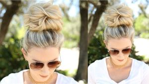 Easy Hairstyles without Bobby Pins Easy Messy Bun Using No Bobby Pins