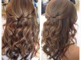 Easy Half Up Hairstyles Tutorial Half Up Half Down Hair with Curls Hair and Makeup