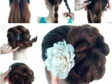 Easy Making Hairstyles Diy Twist Double Rope Bun Updo Hairstyle