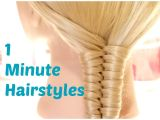Easy One Minute Hairstyles 1 Minute Hairstyles Easy Summer Hairstyles Crix