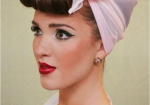 Easy Pin Up Girl Hairstyles the Freckled Fox Modern Pin Up Week 4 Easy Faux Bangs