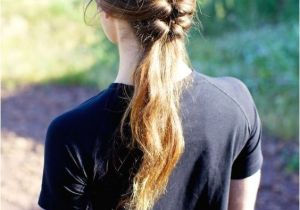 Easy Pulled Back Hairstyles for Long Hair 5 Minute Pulled Back Braid Easy Back to School