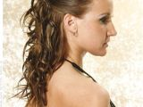 Easy Pulled Back Hairstyles for Long Hair Sleek Curly Half Updo Hairstyle with Volume Winter