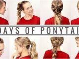 Easy Quick Hairstyles Videos 7 Days Of Ponytails Beauty Tutorials Pinterest