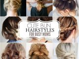 Easy Short Hairstyles for Busy Moms Cute Bun Hairstyles