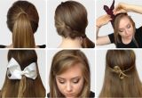 Easy Steps to Do Hairstyles Step by Step S Of Elegant Bow Hairstyles Hairzstyle