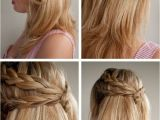 Easy Tie Up Hairstyles the Half Tie Look the Most Feminine and Easy