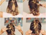 Easy Tied Up Hairstyles for Short Hair Lob Hairstyle