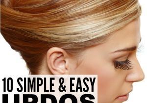 Easy Up Hairstyles for Shoulder Length Hair 10 Simple Updos for Shoulder Length Hair