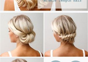 Easy Up Hairstyles for Shoulder Length Hair 16 Pretty and Chic Updos for Medium Length Hair Pretty