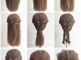 Easy Updo Hairstyles for Thin Short Hair Fashionable Braid Hairstyle for Shoulder Length Hair