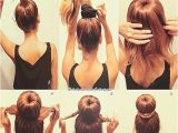 Easy Way to Do Hairstyles Easy top Bun
