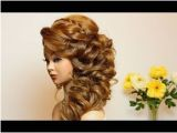 Everyday Hairstyles for Long Hair Youtube Curly Prom Bridal Hairstyle for Long Hair Tutorial In 2018
