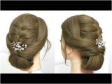 Everyday Hairstyles for Long Hair Youtube Easy Everyday Hairstyle Simple Party Updo for Long Hair Tutorial