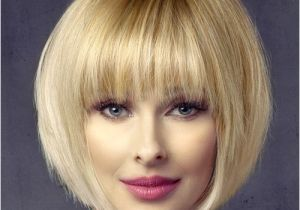 Everyday Hairstyles with Bangs Short Straight formal Bob Hairstyle with Layered Bangs Light Honey