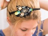 Everyday Hairstyles with Headbands Take An Everyday Headband and Slip A Jeweled Felt Piece Onto It