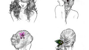 Fairy Hairstyles Drawing Hair ornaments Series Pleted with Ball Point Pen Pencil and