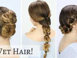 Fast Easy Hairstyles for Wet Hair Quick Hairstyles for Wet Hair