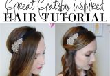 Flapper Girl Hairstyles Easy 1920 S Great Gatsby Hair Tutorial In 2018 1920s