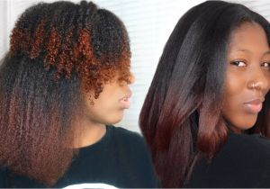 Flat Iron Hairstyles for Black Girls Curly to Straight Hair Tutorial