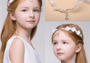 Flower Girl Hairstyles with Headband Newest Junior Bridesmaid Bride Accessories Headband Hairwear Crystal