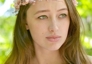 Flower Girl Hairstyles with Headband Rustic Crown Bridal Beige Floral Crown Branches Head Piece Elven