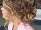 Formal French Braid Hairstyles French Braid Into A Messy Low Bun Prom Hair…