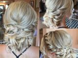 Formal Hairstyles Blonde Hair Textured Up Do for Blondes with Curls and Side Braid Bridal