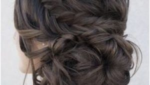 Formal Hairstyles Messy Bun with Braid 296 Best Hair Images