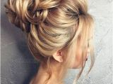 Formal Hairstyles Messy Bun with Braid 50 Chic Messy Bun Hairstyles Make Up & Hair Pinterest