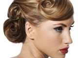 Formal Hairstyles Pulled to the Side Awesome Pin Curls I Like the Idea Of the Bangs Pulled Back and
