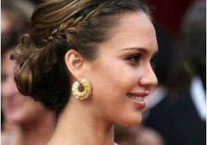 Formal Hairstyles Pulled to the Side Jessica Alba S French Braid Pulled Back Hair Styles