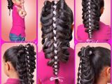 Four Braid Hairstyle A Beautiful and Unique Four Strand Ribbon Caged Braid