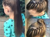 French Braid formal Hairstyles Front French Braid Wrapped Around A Very High Pony Tail