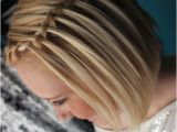 French Braid Hairstyles for Short Hair Waterfall Braid with Short Hair French Braided Hairstyles