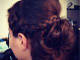 French Braid with Bun Hairstyles Halo Braid sock Bun French Braid Updo Wedding Hair by soma Hair