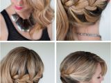 French Plait Hairstyles for Weddings Valentino Gown