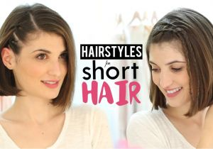 Fun and Easy Hairstyles for Short Hair Hairstyles for Short Hair Tutorial