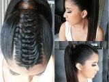 Gator Braid Hairstyle Ponytail Knotted Braid