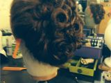 Gibson Girl Hairstyle Curly Gibson Girl Updo theatre Stage Makeup and Hair