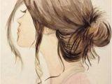Girl Hairstyles Art Gallery for Girl Tumblr Hair Drawing Aes Artsy