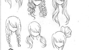 Girl Hairstyles Manga Draw Realistic Hair Drawing Ideas